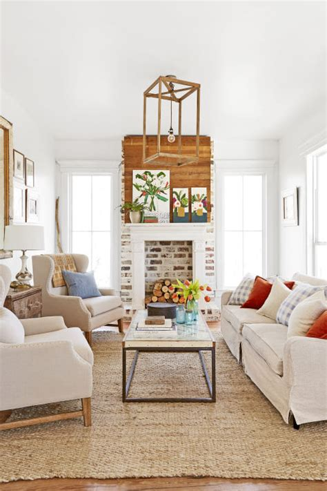 Cape Style Home Decorated Classic Color And Pattern by 30 White Living Room Decor Ideas For White Living Room