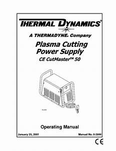 Thermal Dynamics Cutmaster 42 Manual