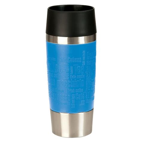 emsa isolierbecher travel mug 360 ml farbe bleu real