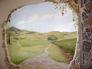 trompe l39oeil wall mural diy paint pinterest trompee With idee de decoration de jardin 12 fresque murale decor peint et trompe loeil peinture