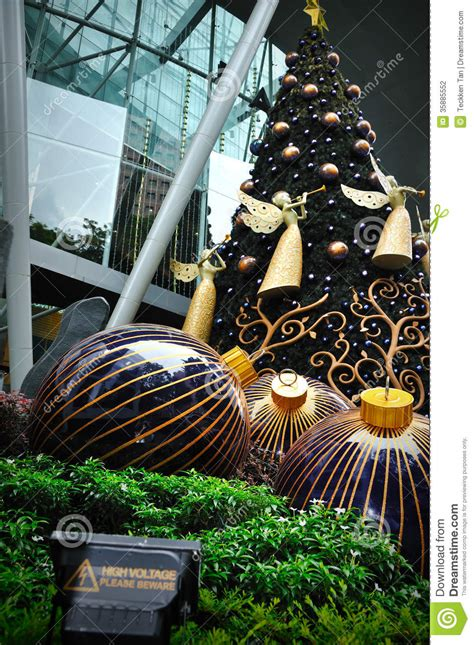cost of christmas trees at orchard hardware decoration at singapore orchard road editorial photography image 35885552