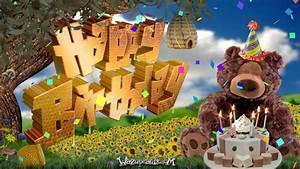 Happy Honey Bear Cake - HAPPY BIRTHDAY - YouTube