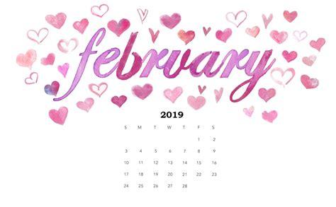 watercolor february  calendar wallpaper february