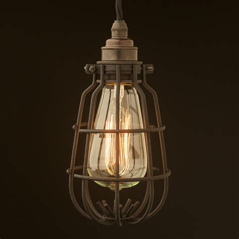 Enclosed Crinkle Black Light Bulb Guard Fitting 7 Inch