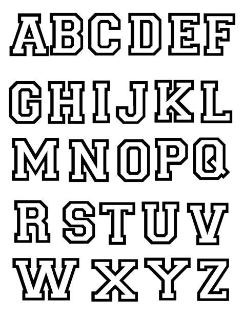 Abecedario para colorear Letras mayúsculas Alfabeto