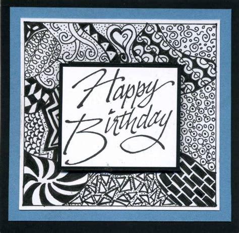 birthday zentangles  mlnapier  splitcoaststampers
