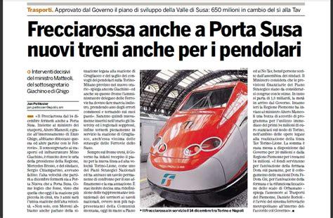 Orari Treni Porta Susa by Ripristinata La Fermata Alta Velocit 224 Di Porta Susa