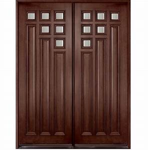 Diyar Solid Wood Main Double Door Hpd412 - Main Doors - Al