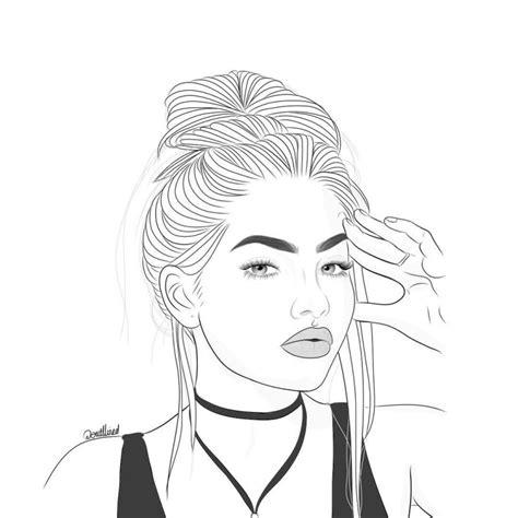 disegni  ragazze tumblr da colorare img