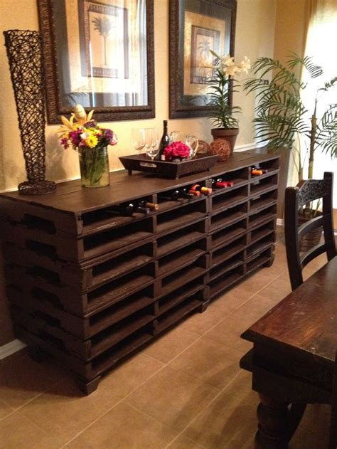 buffet table  pallets woodworking
