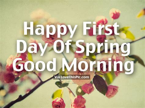 Happy First Day Of Spring, Good Morning Pictures, Photos ...