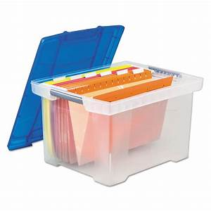 Plastic File Tote Storage Box by Storex STX61508U01C ...