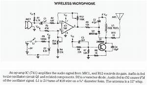 Transmitter Circuit Schematics Includding Bugging Device Circuits  Also See Rf Circuit Diagrams
