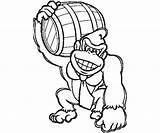 Kong Donkey Coloring Pages King Diddy Printable Mario Super Dk Getcolorings Popular Coloringhome Getcoloringpages sketch template