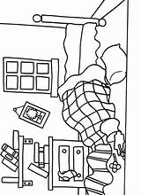 Coloring Pages Room Mr Bedroom Messy Printable Litltle Miss Furniture Print Coloriage Getcolorings Colori Fun Kleurplaten Template Preschool sketch template