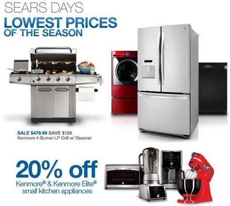 sears kitchen appliances sears kenmore appliances coupons shopping