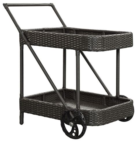 replenish outdoor patio beverage cart in espresso modern