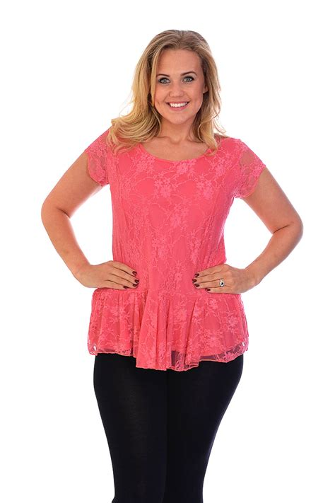 blouses for sale womens lace top plus size lined peplum style