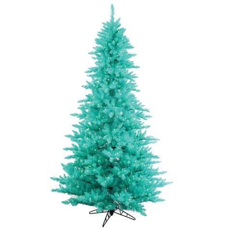 aqua blue christmas lights 7 5 foot artificial aqua fir christmas tree blue pre lit