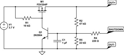 Power Supply Battery Low Voltage Cut Off Circuit Driven