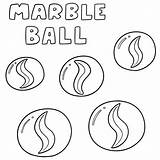 Marble Ball Marbles Drawing Cartoon Clip Av Vettore Della Marmeren Vecteur Illustrations Insieme Vektoruppsaettning Drawn Boule Marbre Ensemble Vektorsatz Palla sketch template