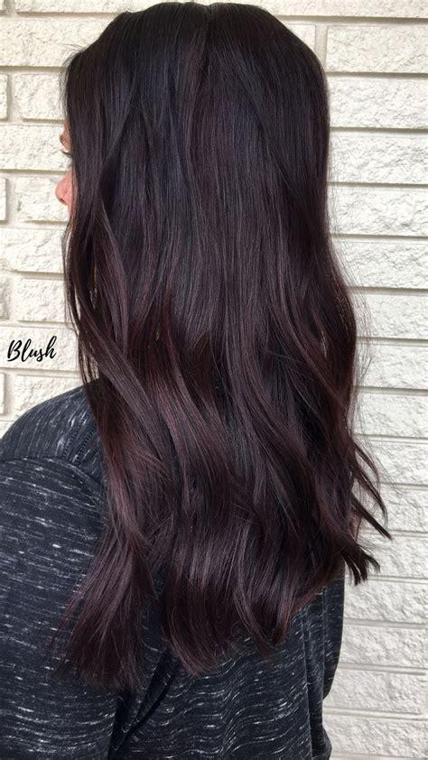 mauve mocha brunette maroon balayage blush   blvd