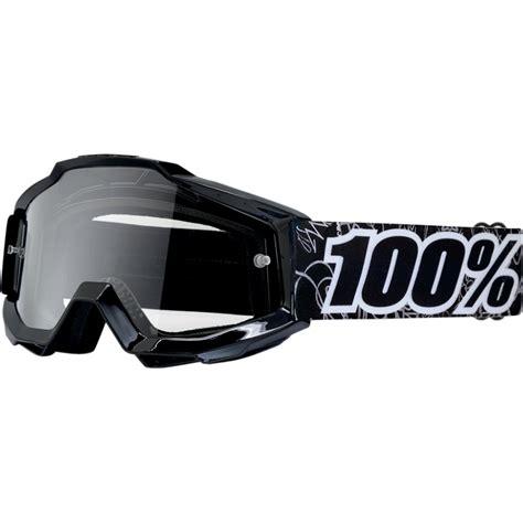 100 percent motocross goggles new 100 percent mx youth accuri graff black clear 100