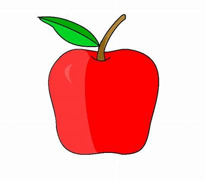 Apple Drawing Draw Contour Easy Apples Clipart