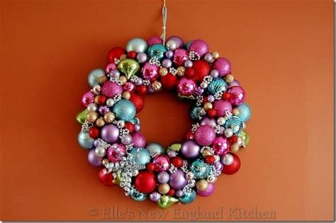 how to make wreath with christmas balls make your own christmas ornament wreath holiday christmas pinterest