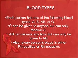 Positive And Negative Blood Type Chart Wardclass Powerpoint Blood Transfusion