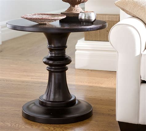 pedestal accent table pottery barn rustic pedestal accent table copycatchic