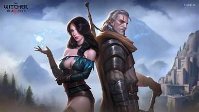 Witcher Yennefer Geralt Fanart 4k Artstation Yen