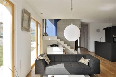 escalier beton interieur maison maison moderne