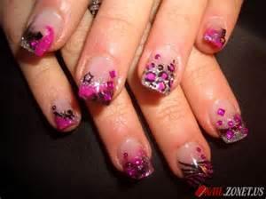 Zebra acrylic nails ideas on print nail