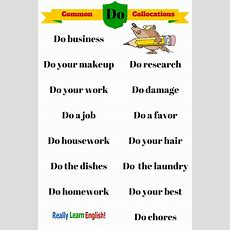 "Common English Collocations With ""do"" If You Want To Learn To Speak And Write Like A Native"