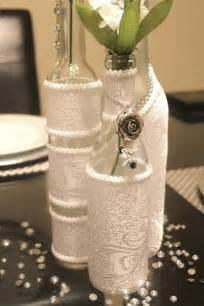 Decorative Wine Bottles For Wedding by Set 3 Decorated Wine Bottle Centerpiece White Wine