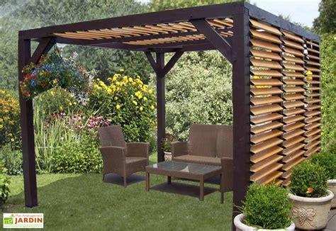 pergola ombra avec lames orientables c 244 t 233 et toit en bois habrita
