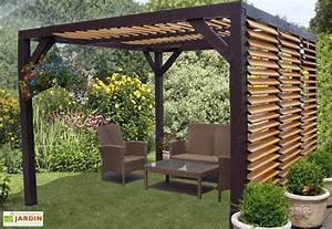 Construire Une Pergola En Bois : pergola ombra avec lames orientables c t et toit en bois ~ Premium-room.com Idées de Décoration