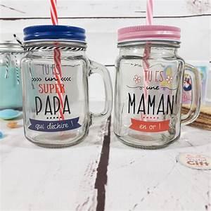 Mason Jar Paille : mason jar avec paille super papa cadeau papa ~ Teatrodelosmanantiales.com Idées de Décoration