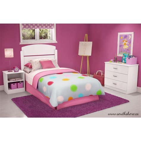 south shore libra  piece pure white twin kids bedroom set