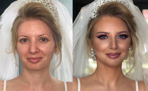 Meikapa brīnumi: foto, kā mainās līgavas pēc grima ...
