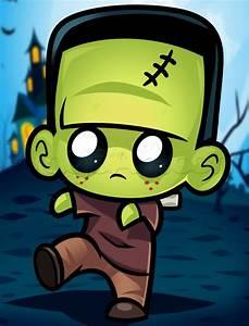 How to Draw Cute Frakenstein, Step by Step, Frankenstein ...