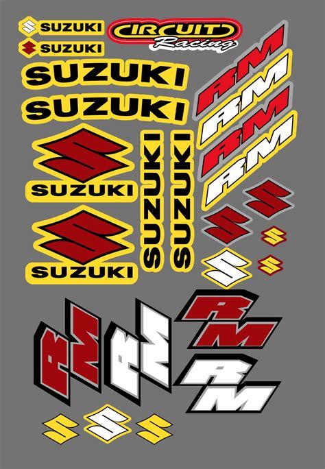 Suzuki Stickers by Suzuki Rm Sticker Kit