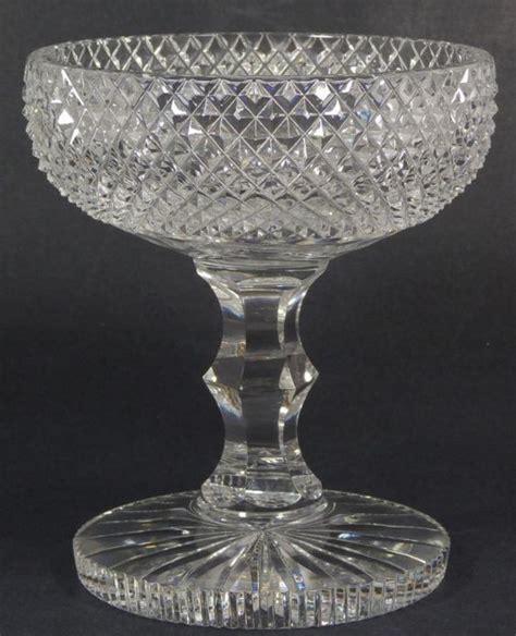 glass cut crystal pattern antique diamond glassware compote etched bowl patterns identification bowls stemware vase glasses lot dish american rare