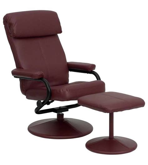 Furniture  Ikea Leather Recliner With Dark Brown Color