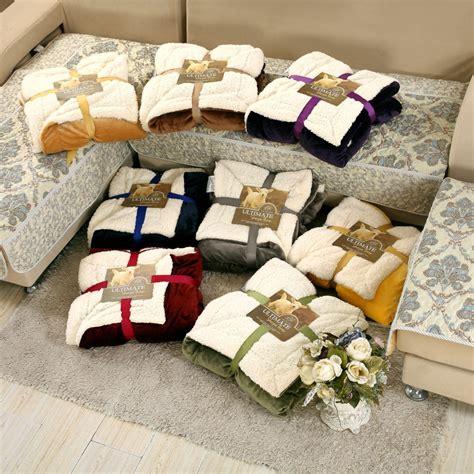 jeter un canapé achetez en gros réversible polaire tissu en ligne à des