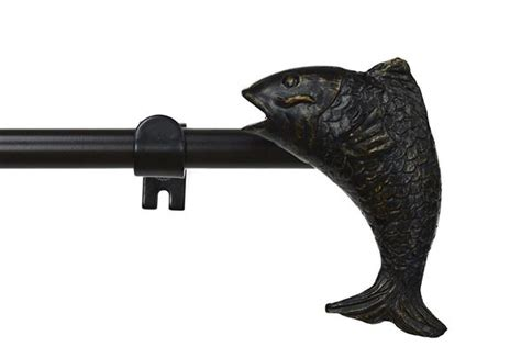 Adjustable Drapery Rod by 3 4 Inch Adjustable Drapery Curtain Rod With Fish Finial