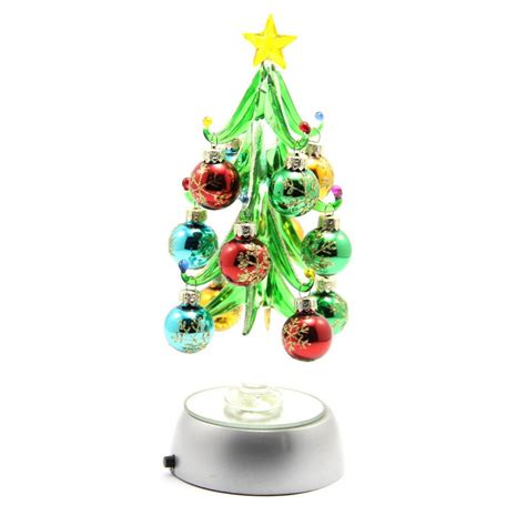 glass christmas trees with crystal ornaments buy glass