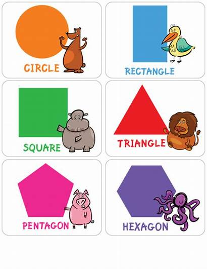 Shapes Flashcards Learning Clipart Flash Shape Card