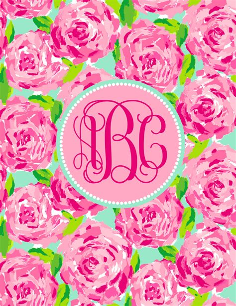 personalized monogram lilly pulitzer   sweetfacestudio